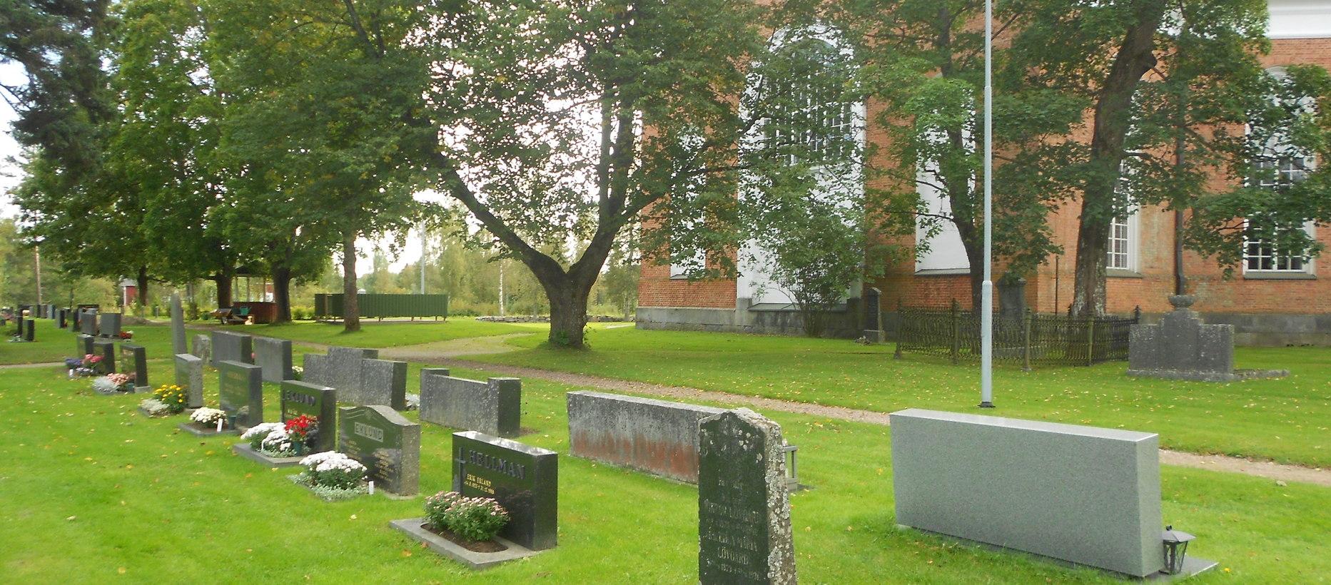 Lappfjärds kyrkas kyrkogård